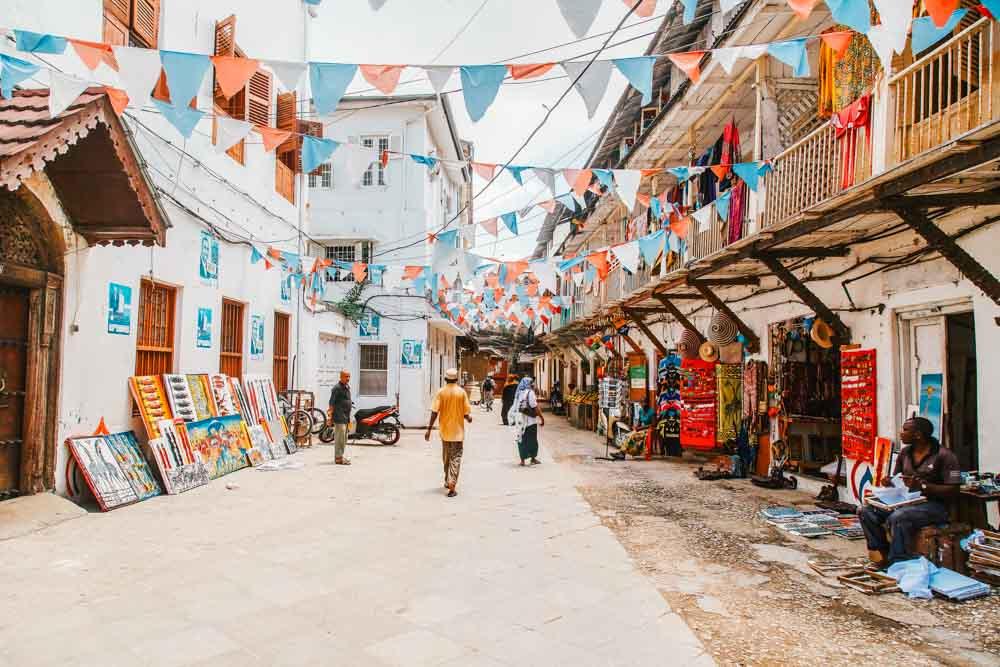 Sur L île Aux épices Zanzibar Terres De Cultures
